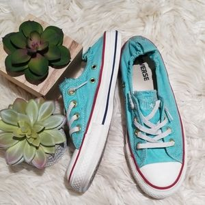 Converse all star turquoise light blue shoes s. 7